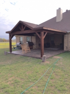 Stamped Concrete Flower Mound TX - McFall Masonry & Construction - pic
