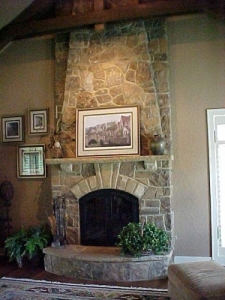 Concrete Contractors Carrollton TX - Driveways, Patios, Stamped & Decorative - McFall - fireplace