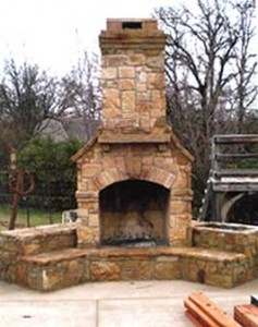Affordable Outdoor Kitchens In Dallas TX - McFall Masonry & Construction - fireplace2-237x300