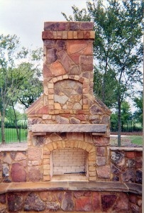High-Quality Outdoor Kitchens Near Bedford TX - McFall Masonry & Construction - outdoor-fireplace2-203x300