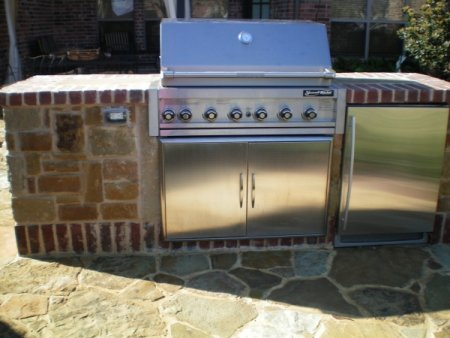 Outdoor Kitchens & BBQs Argyle TX - Fort Worth Firepit Installation | McFall Masonry & Construction - photo2